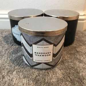 3 empty candle jars from B&BW